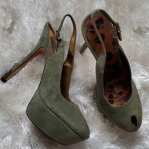 Sam Edelman Olive Platform Sling Back 6.5 Heels